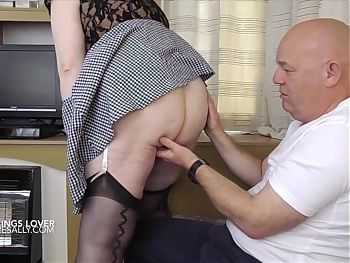 Sallys lover loves her wearing stockings and suspenders