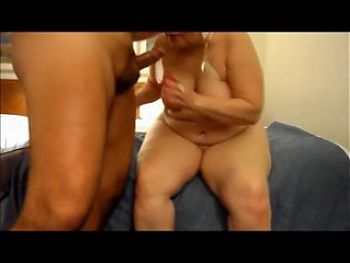 Granny Strips To Suck Cock To Completion