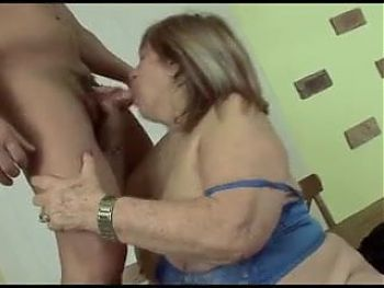 BBW Granny In Lingerie Is Fucked Well