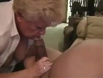Grandmas Neighbor Laughs When He Cums In Her Mouth