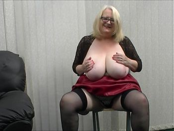 Skimpy black top and red pvc skirt